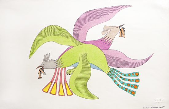Arctic Wind V: Drawing from the Land | Bird Dance by Kavavaow Mannomee