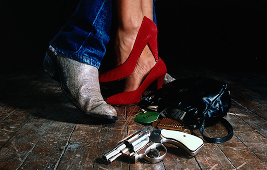 The iconic image from the Coen brothers' Blood Simple.