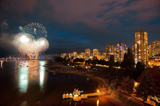 Fireworks and Aqua Bus