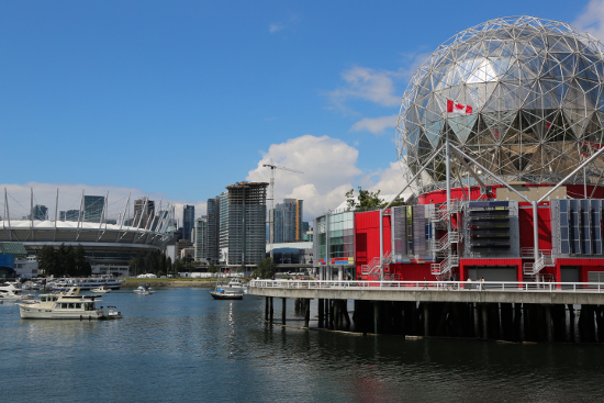 Pokémon hunting hotspots, BC Place and Science World.