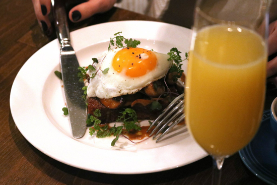 Sunny egg atop mushroom toast; Sourced from Tableau Facebook page
