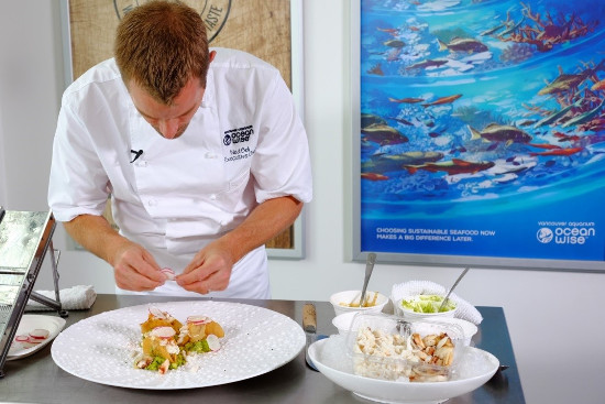 Ocean Wise executive chef Ned Bell is one of four top chefs that will be leading a cooking demo at Fin to Tail