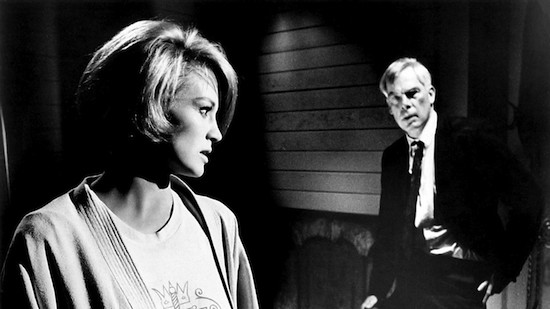 Lee Marvin and Angie Dickinson in Point Blank.