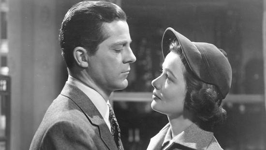Dana Andrews and Gene Tierney in Where the Sidewalk Ends.