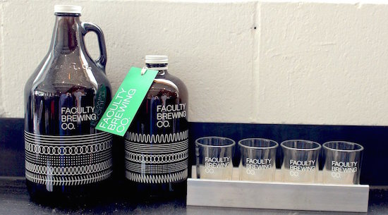 Faculty Brewing glasses & growlers