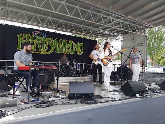 Jody Glenham performing at the Khatsahlano Street Party this summer.