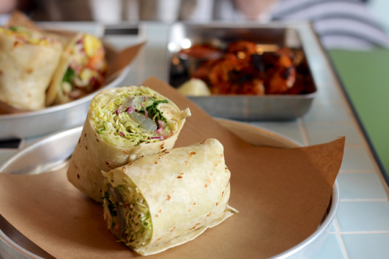 Smoked tuna burrito; Photo Credit: Amy Ho