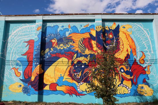 Mural by Paige Bowman, @birdfingers