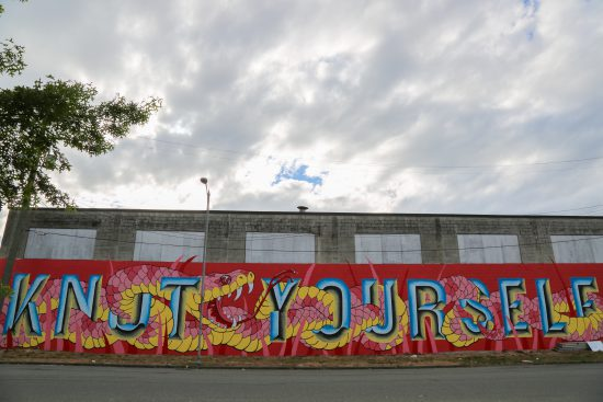 Mural by Katie So, @ghostmeadow and Benjamin Knight, @sol.signs