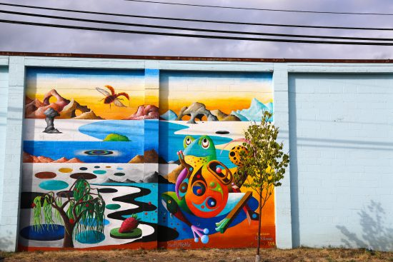 Mural by Cody Lecoy, @codylecoy, Lenslie Vargas, and Hira.