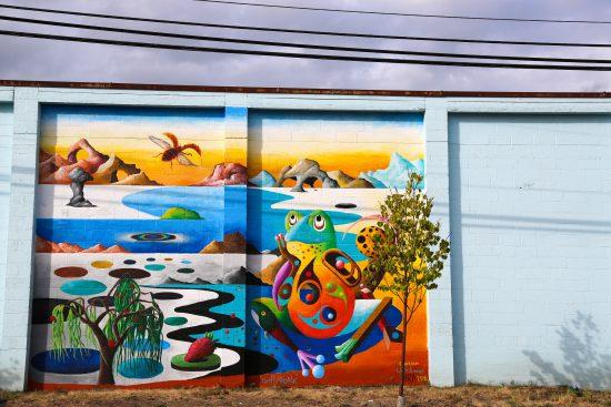 Mural by Cody Lecoy, @codylecoy, Lenslie Vargas, and Hira.