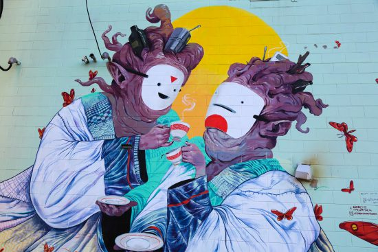Mural by Alison Woodward & Graeme McCormack