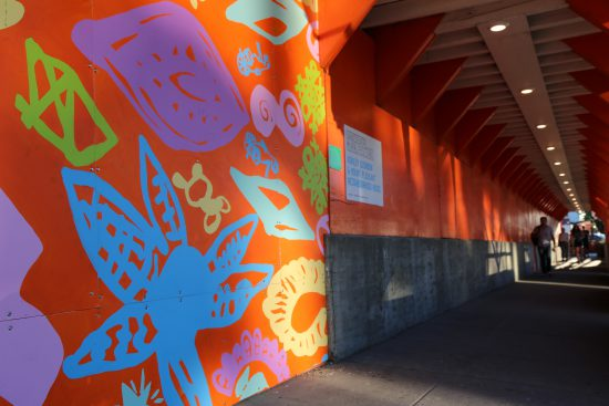 Mural by Ashley Guindon and Mount Pleasant Neighbourhood House
