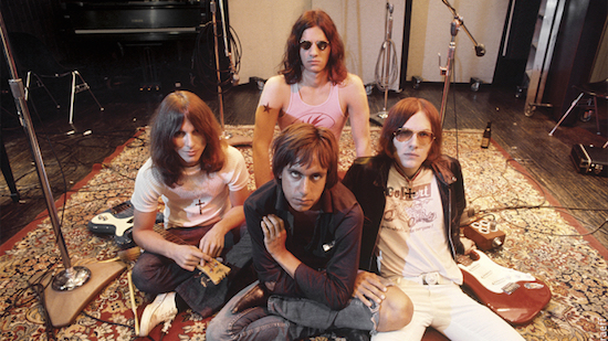 Iggy the Stooges (L-R Dave Alexander, Iggy Pop in front, Scott Asheton in back and Ron Asheton) pose for a portrait at Elektra Sound Recorders while making their second album, Fun House, on May 23, 1970 in Los Angeles. Photo by Ed Caraeff/Getty Images.