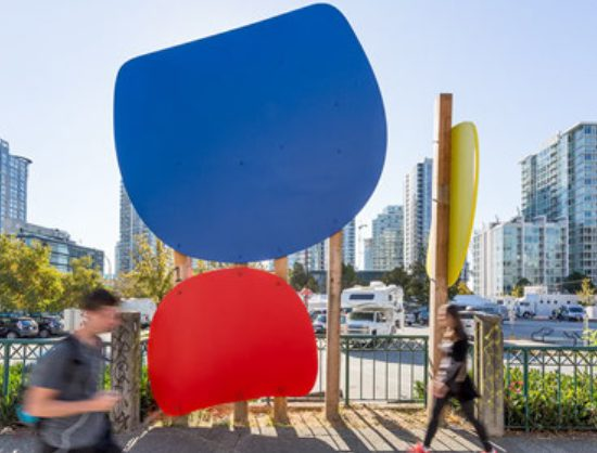 A new public art installation by Lawrence Paul Yuxweluptun on the future site of the Vancouver Art Gallery officially launches this Thursday.