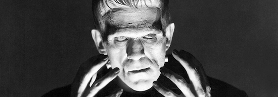 Boris Karloff stars in the classic 1931 horror film Frankenstein.