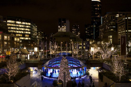 Robson Square ice rink 2016