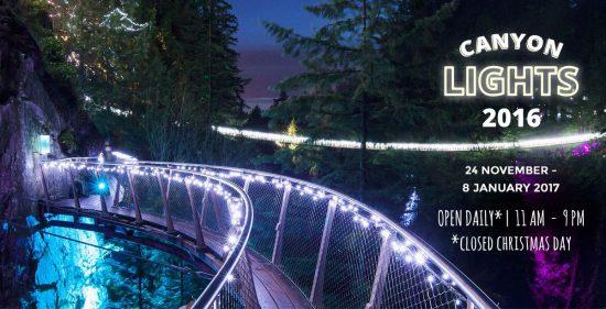 canyon lights capilano suspension bridge 2016