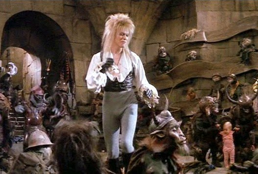 David Bowie as the Goblin King in the 1986 movie Labyrinth.