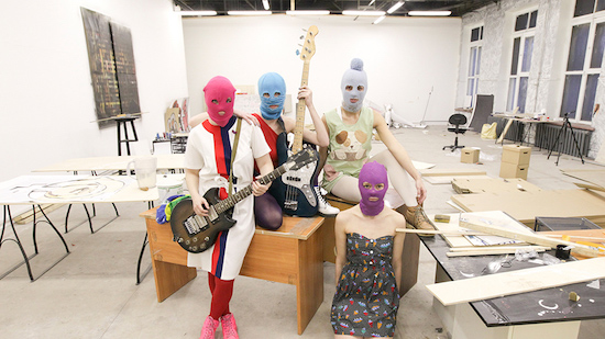 Pussy Riot, in a promotional photo for the 2013 documentary A Punk Prayer.