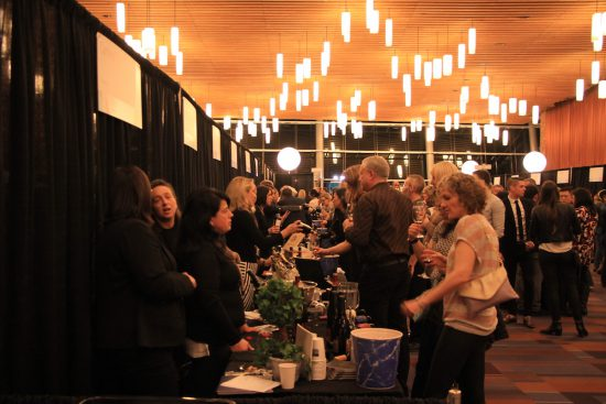 The VIWF tasting room at the Vancouver Convention Centre, Feb. 16 2017. Robyn Hanson photo.