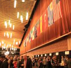 The Vancouver International Wine Festival tasting room at the Vancouver Convention Centre