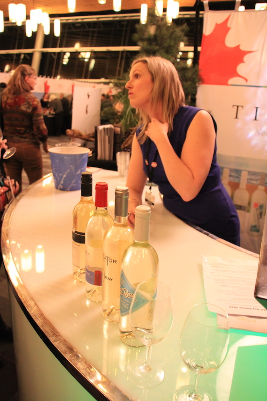 Tidal Bay Wines from Nova Scotia at the Vancouver Convention Centre, Feb. 16 2017. Robyn Hanson photo.