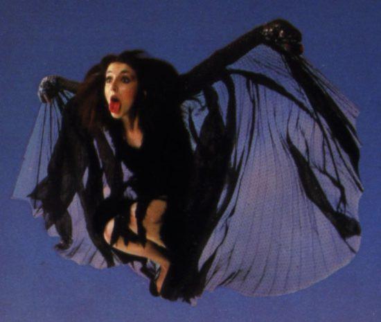 Kate Bush flying