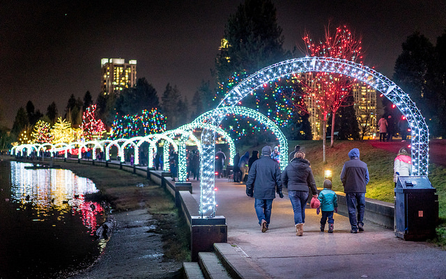 Lights at Lafarge is the Largest Free Outdoor Light Display in the Lower Mainland