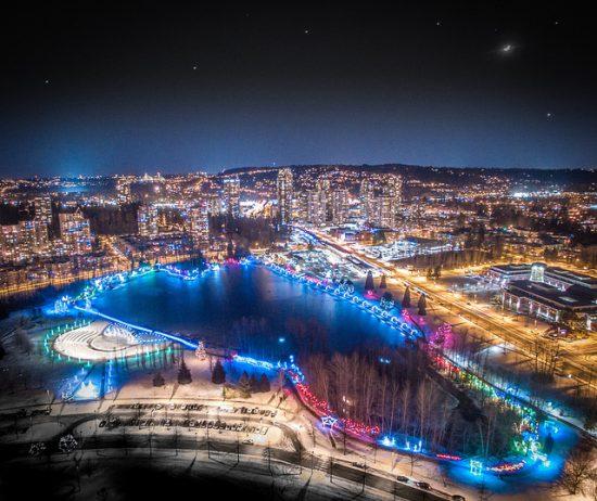 lights at lafarge Christmas 2017