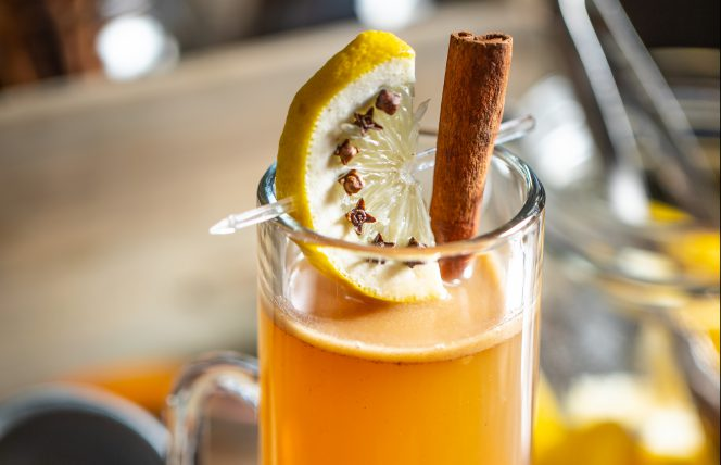 festive rum cocktail