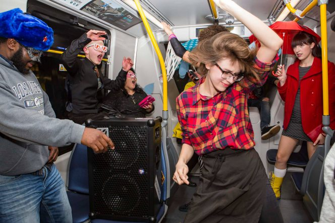 vancouver skytrain dance party 2018