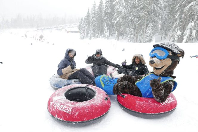 snow tubing cypress mountain