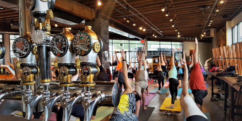 craft brewery yoga