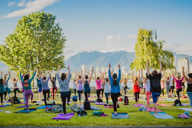 outdoor yoga Vancouver
