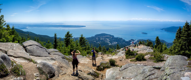 The view from the top of the Eagle Bluff hike in West Vancouver