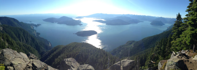 The view from St. Mark's Summit near Vancouver, BC