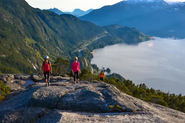 Hiking the Stawamus Chief in Squamish, BC