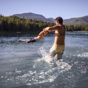 Swimming at Lost Lake