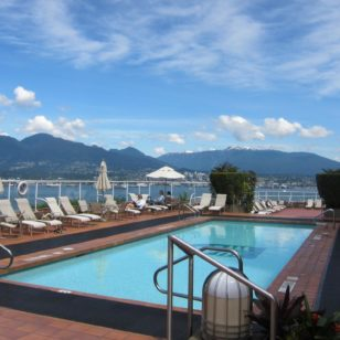 outdoor pool hotel Vancouver