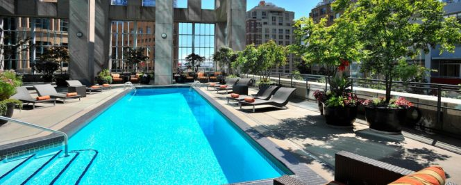 hotel rooftop pool Vancouver