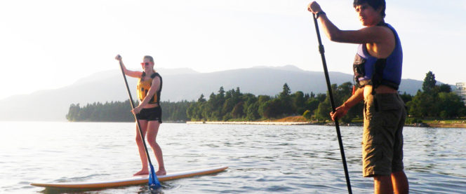 paddleboarding Vancouver