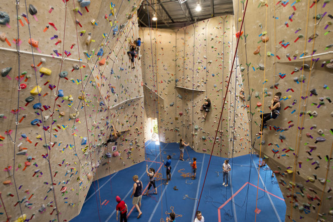 Cliffhanger Climbing gym in Vancouver, BC