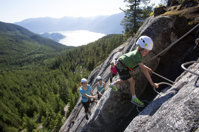 Via Ferrata at the Sea to Sky Gondola in Squamish, BC