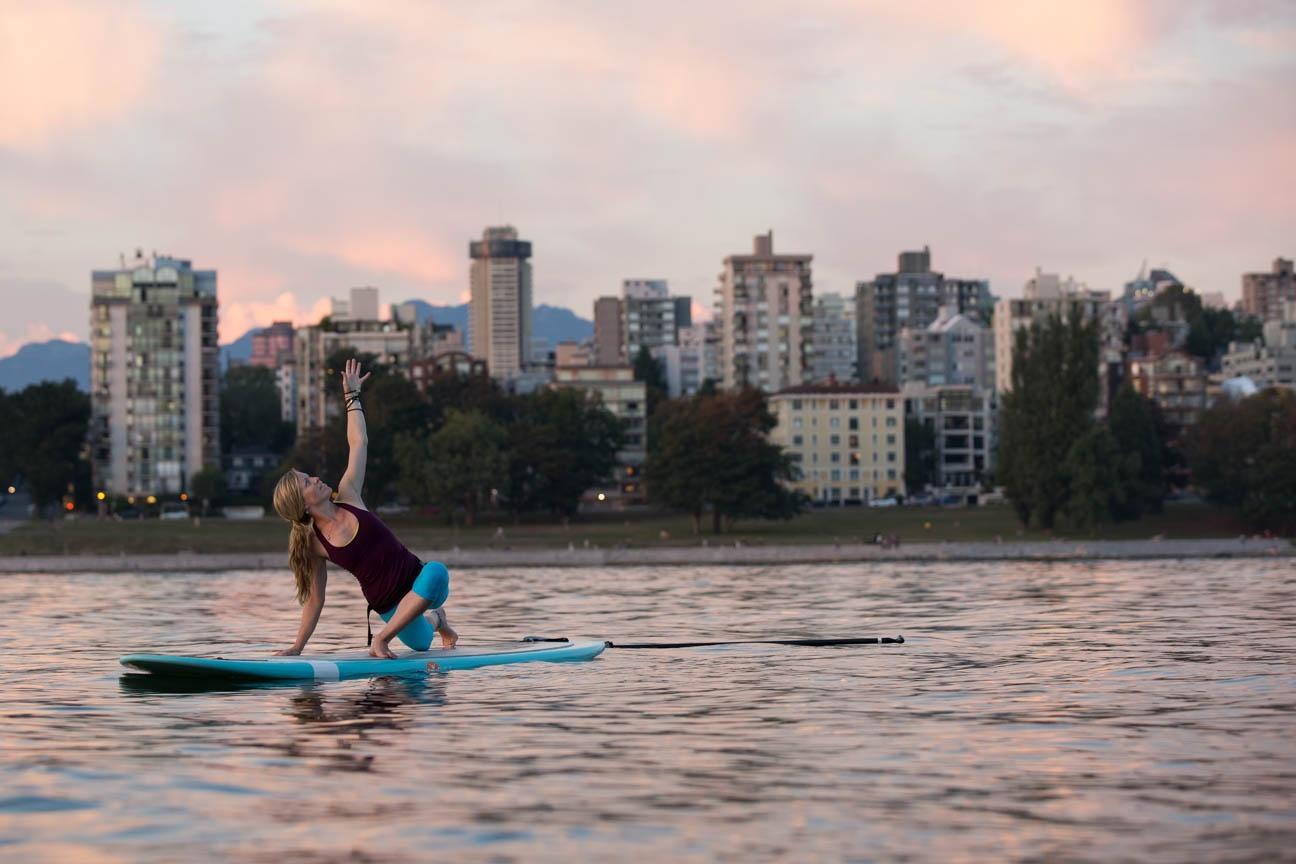 SUP yoga Vancouver