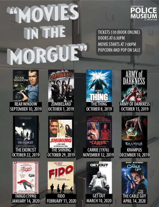 movies in the morgue vancouver 2019