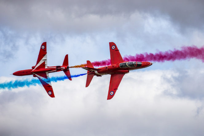 The Red Arrows, Royal Air Force Aerobatic Team, will perform