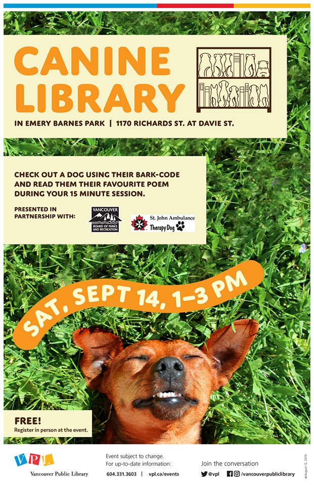 canine library vancouver 2019