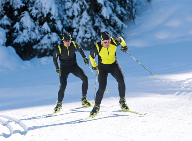 Cross country skiing at Cypress Mountain near Vancouver