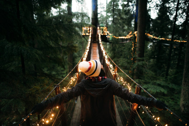 Canyon Lights at the Capilano Suspension Bridge in North Vancouver